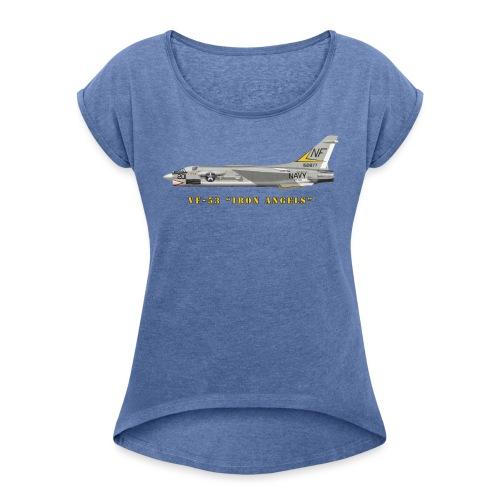 F-8J Crusader VF-53 Iron Angels - T-shirt à manches retroussées Femme