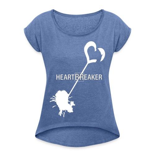 Heartbreaker White - Maglietta da donna con risvolti