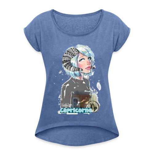 capricorne By Yo&Dee - T-shirt à manches retroussées Femme