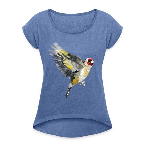 6 - Koszulka damska z lekko podwiniętymi rękawami