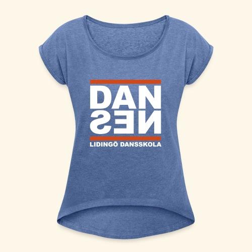 Dan Sen - T-shirt med upprullade ärmar dam