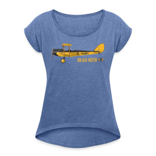 DH60 Moth - Women's T-Shirt with rolled up sleeves