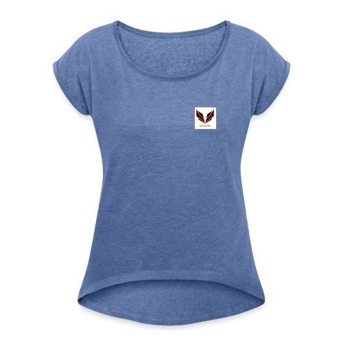 ropa con el logo - Camiseta con manga enrollada mujer