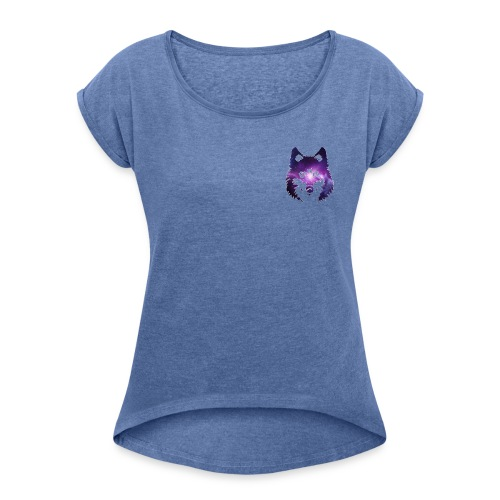 Galaxy wolf - T-shirt à manches retroussées Femme