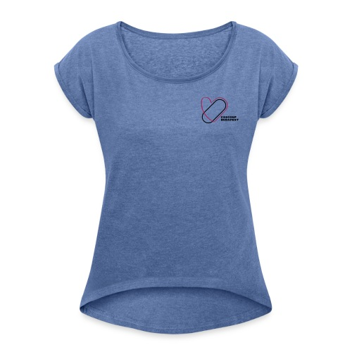 CSSConf Budapest - Women's T-Shirt with rolled up sleeves
