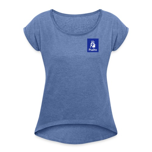 psalto02 - T-shirt med upprullade ärmar dam