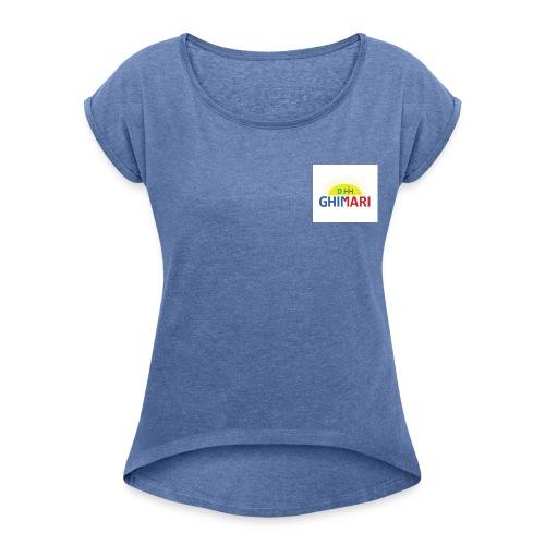 GHIMARI - Camiseta con manga enrollada mujer