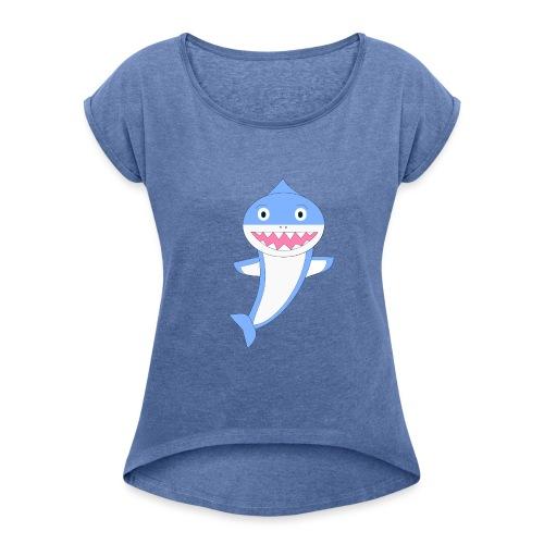 Sharky - Camiseta con manga enrollada mujer