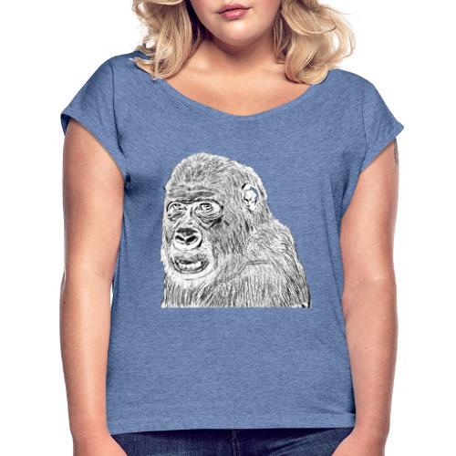 singe - T-shirt à manches retroussées Femme