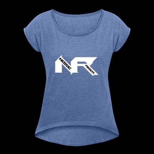 Noise Riser Logo - Vrouwen T-shirt met opgerolde mouwen