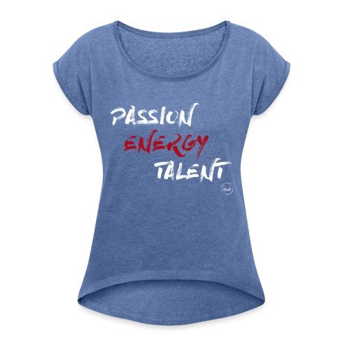 PASSION DANSE - T-shirt à manches retroussées Femme