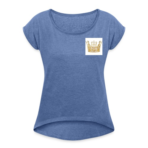 kingsammytvs crown - Women's T-Shirt with rolled up sleeves