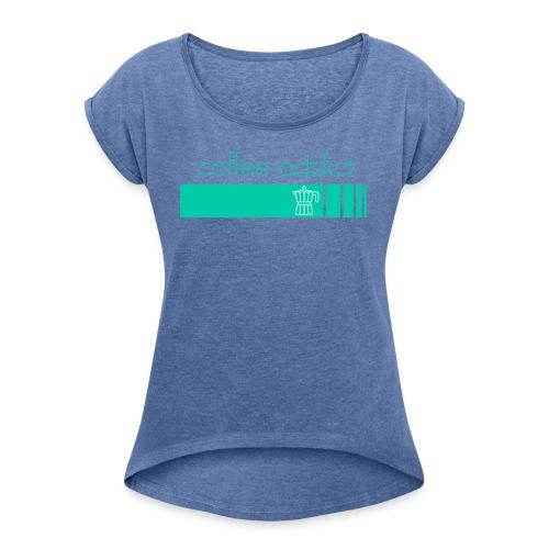 CAstripe - T-shirt à manches retroussées Femme