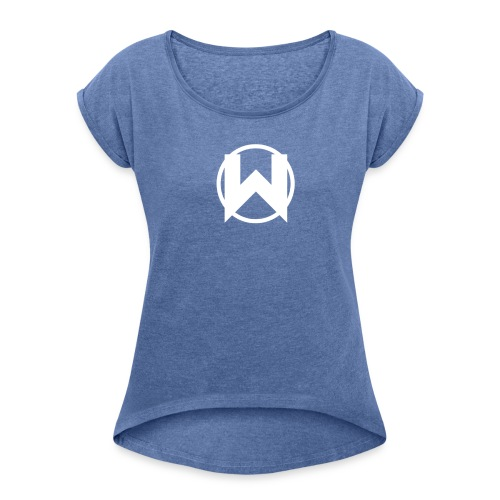 Night Wolf - Women's T-Shirt with rolled up sleeves