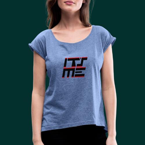 Logo It sME quadrato - Maglietta da donna con risvolti
