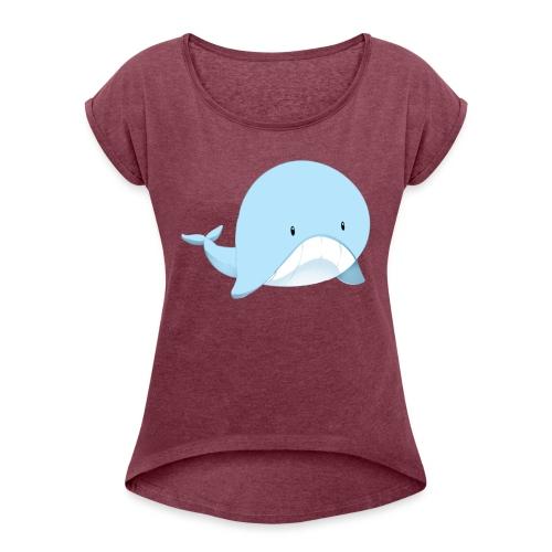 Whale - Maglietta da donna con risvolti
