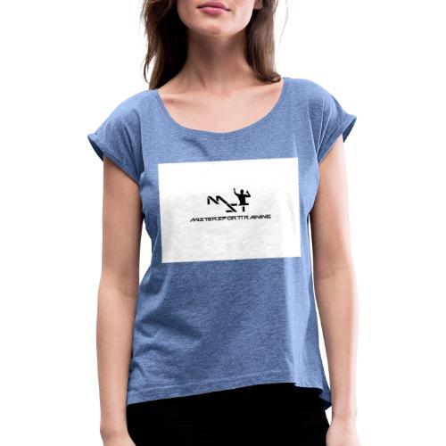 LOGO Recuperado - Camiseta con manga enrollada mujer