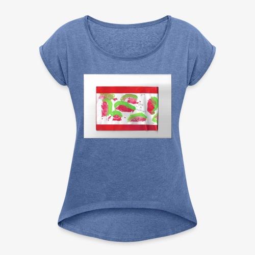 melon - Vrouwen T-shirt met opgerolde mouwen
