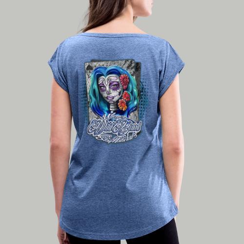 WWB© RockaBella DoubleTrouble (bitte 40°/verkehrt) - Frauen T-Shirt mit gerollten Ärmeln