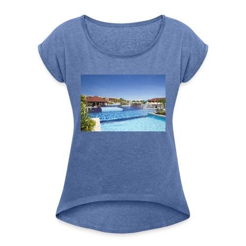 splendide piscine - T-shirt à manches retroussées Femme