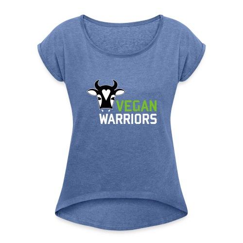 Vegan Warriors - Camiseta con manga enrollada mujer