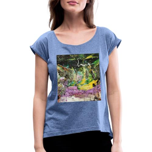 Abstract close up 2 - Women's T-Shirt with rolled up sleeves