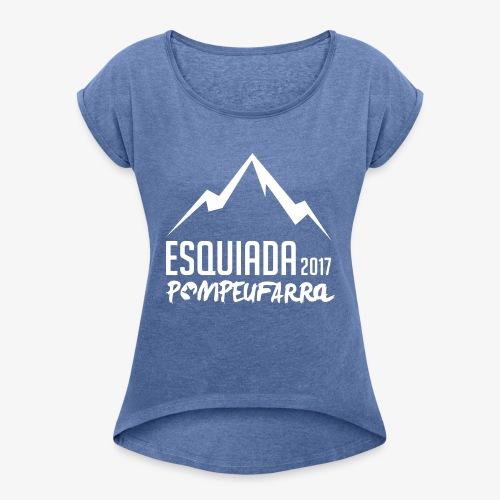 Esquiada Pompeufarra 2017 white - Camiseta con manga enrollada mujer