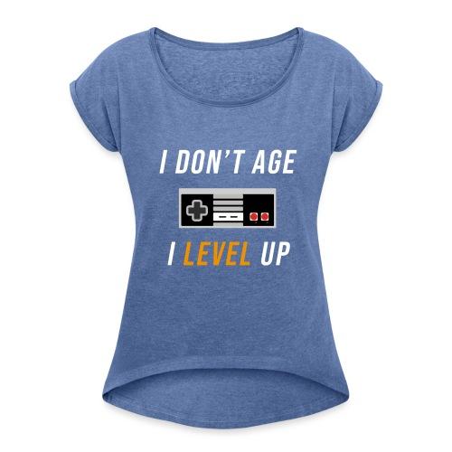 idontage - Dame T-shirt med rulleærmer