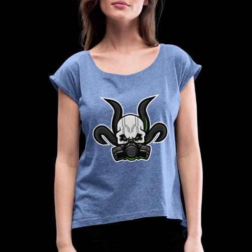 TOXICTOOLS ICON - Frauen T-Shirt mit gerollten Ärmeln