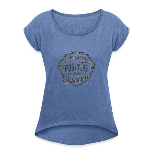 positive - Camiseta con manga enrollada mujer