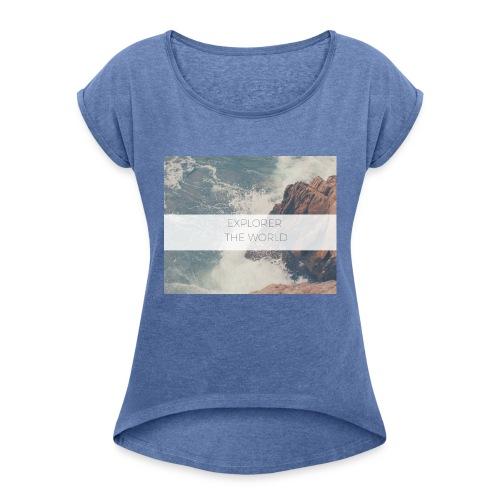 Explorer - Frauen T-Shirt mit gerollten Ärmeln