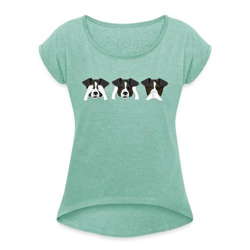 Hunde - Dame T-shirt med rulleærmer