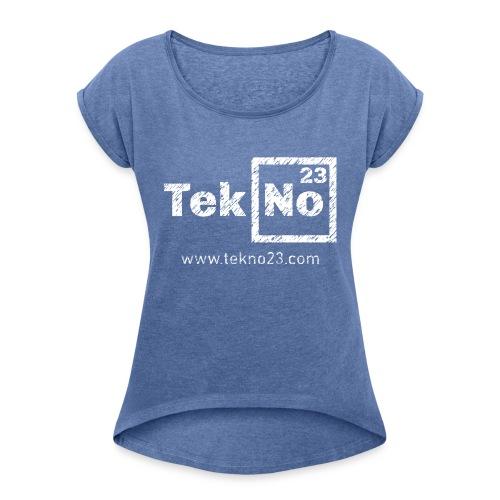 23LO010 - Frauen T-Shirt mit gerollten Ärmeln