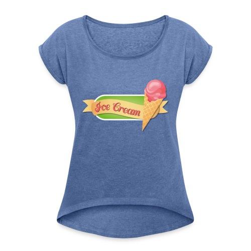 Ice - Maglietta da donna con risvolti