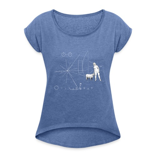 Plate Pioneer Sheep - Women's T-Shirt with rolled up sleeves