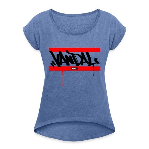 #EASY Graffiti Vandal T-Shirt - Maglietta da donna con risvolti