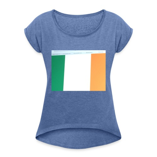 other counties country's - Women's T-Shirt with rolled up sleeves