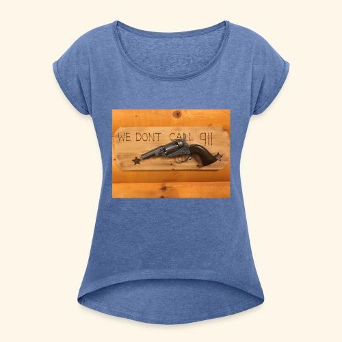 Clint Eastwood - Frauen T-Shirt mit gerollten Ärmeln