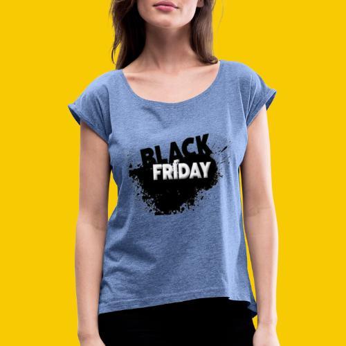 black friday - T-shirt à manches retroussées Femme