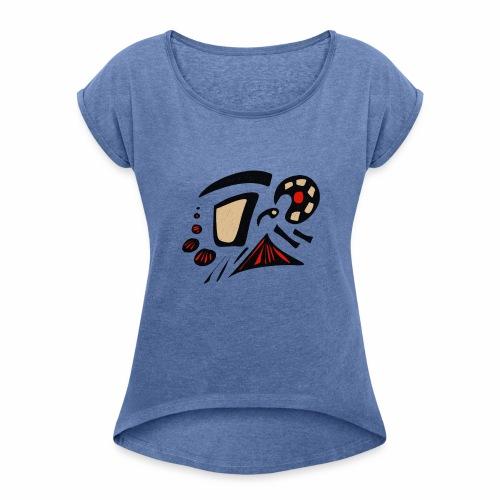 ASTRATTO - Maglietta da donna con risvolti