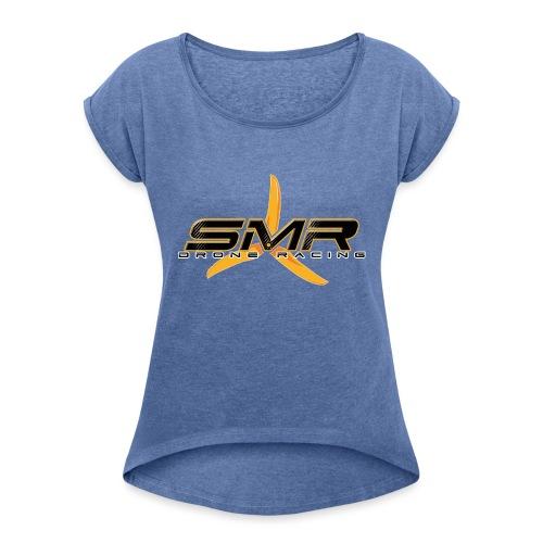SMR Black - T-shirt à manches retroussées Femme