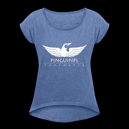 zwolennikiem Whiteline - Koszulka damska z lekko podwiniętymi rękawami