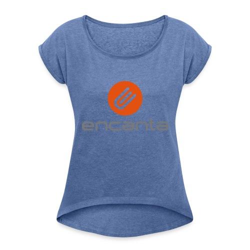 Encanta_Logo_Vector - Camiseta con manga enrollada mujer