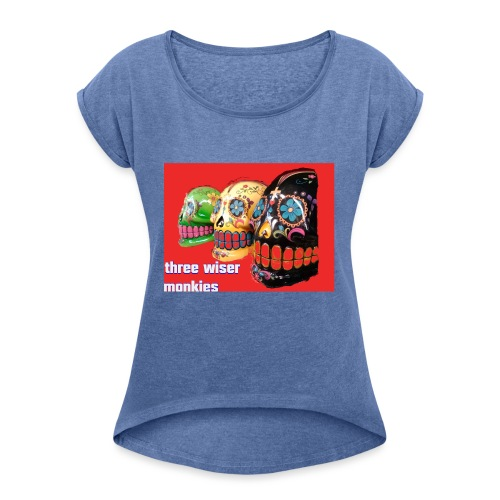 Threewiser - Women's T-Shirt with rolled up sleeves