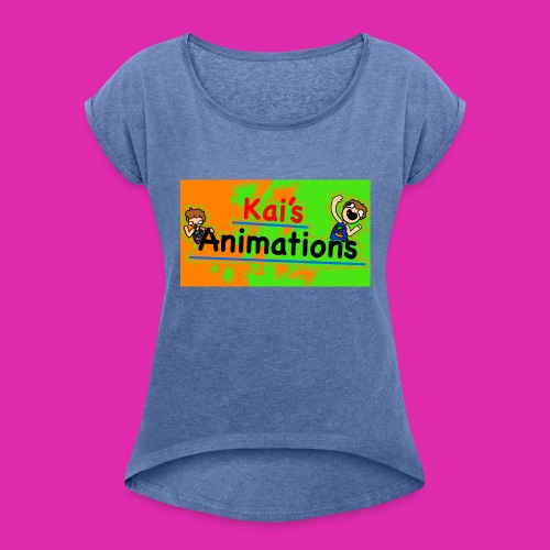 kai's animations logo - Women's T-Shirt with rolled up sleeves