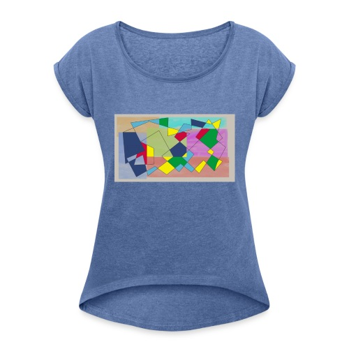 Abstract #1 - Women's T-Shirt with rolled up sleeves