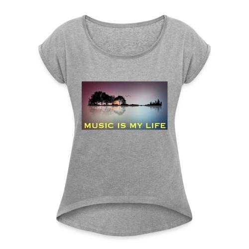 Music - Maglietta da donna con risvolti