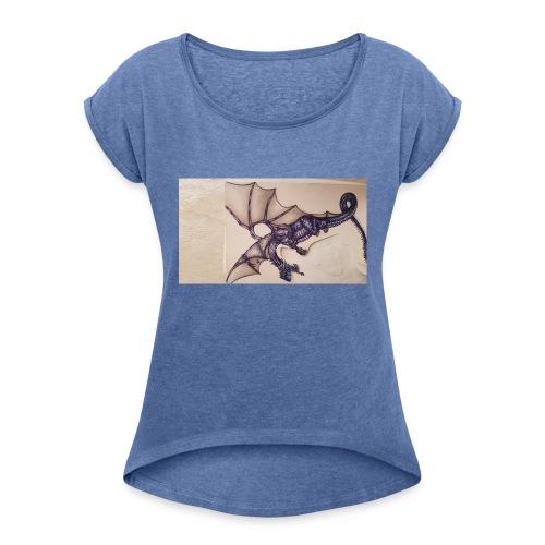 20180202 194941 - Frauen T-Shirt mit gerollten Ärmeln