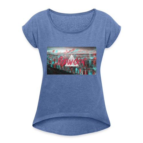 Design Gewoon #1 - Vrouwen T-shirt met opgerolde mouwen