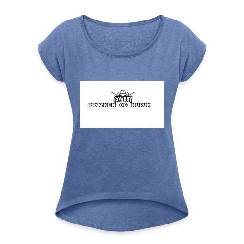 rh cowboys tshirt - T-skjorte med rulleermer for kvinner